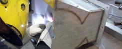 soudure TIG sur broyeur inox